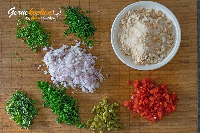 Frikadellen mit Kartoffeln und Gemüse - Zubereitungsschritt 1.1
