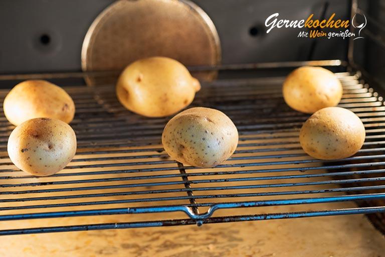Kartoffelstroh mit Spiegelei und Spinat - Zubereitungsschritt 1