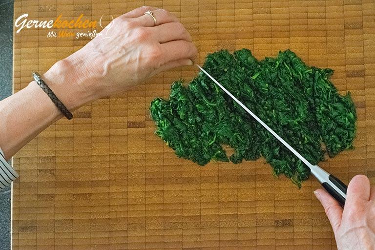 Kartoffelstroh mit Spiegelei und Spinat - Zubereitungsschritt 5