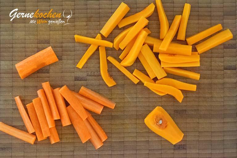 Kürbis-Möhren-Gemüse - Zubereitungsschritt 1