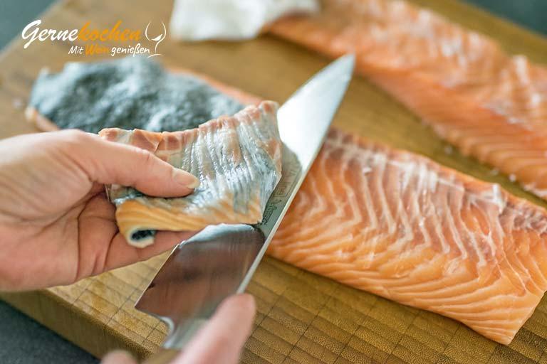 Lachsterrine mit Forellenkaviar – Zubereitungsschritt 2