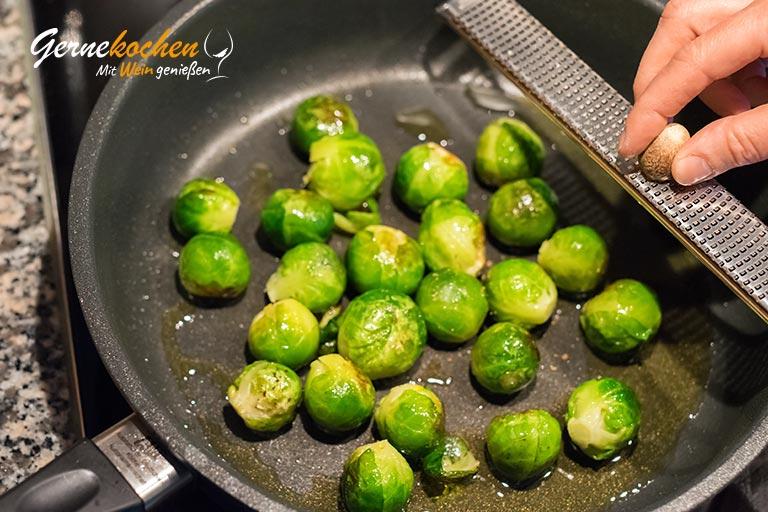 Rosenkohl-Gemüse - Zubereitungsschritt 2