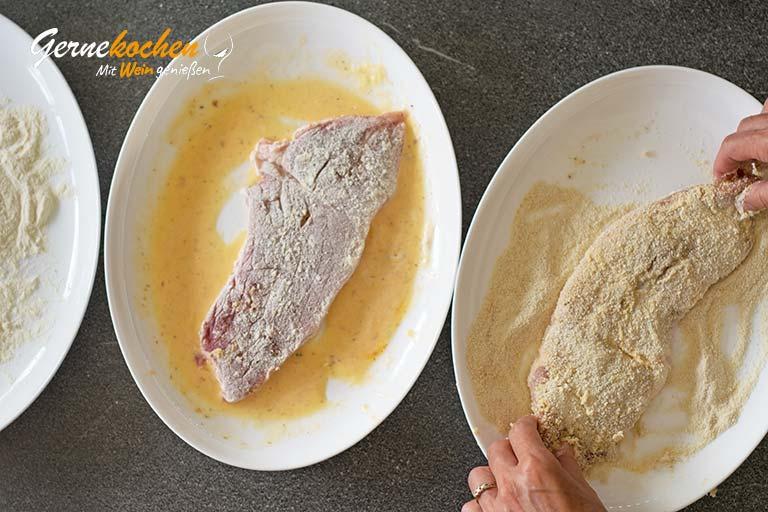 Wiener Schnitzel - Zubereitungsschritt 2