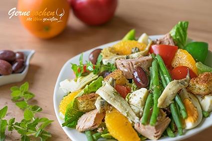 Nizza-Salat-Rezept. Gernekochen - Mit Wein genießen