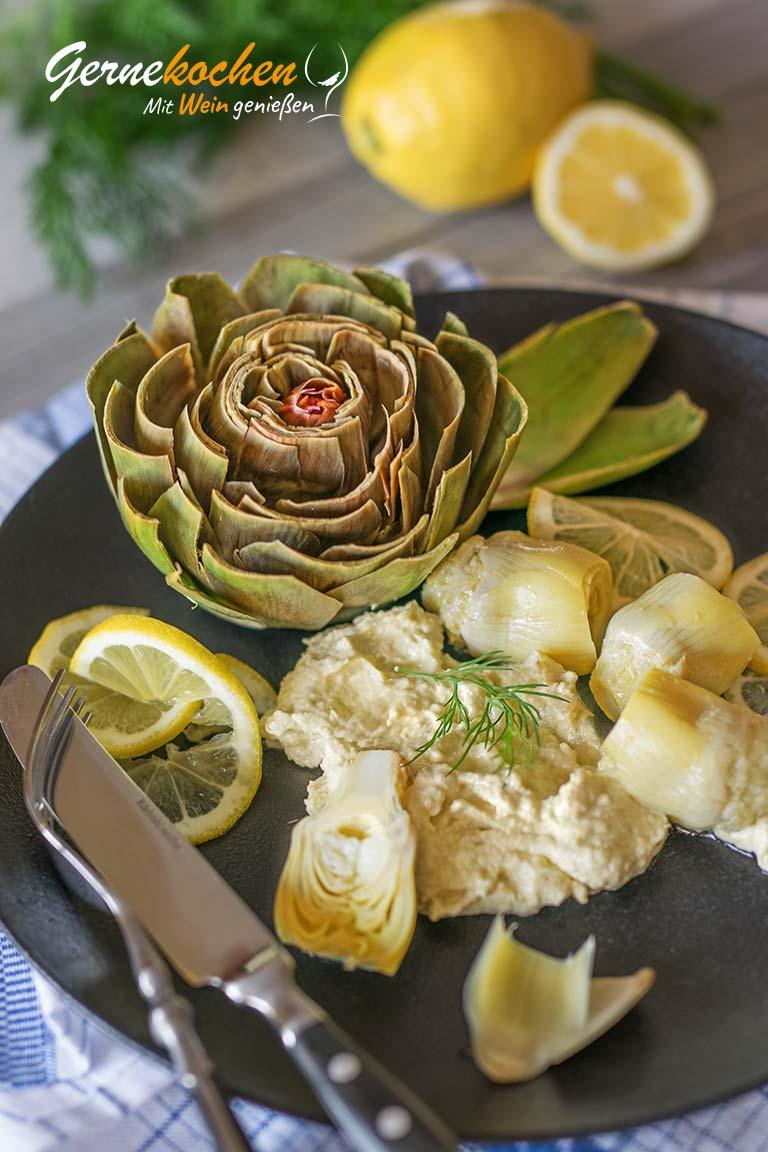 Weißer Taramosalata mit Artischocken Rezept