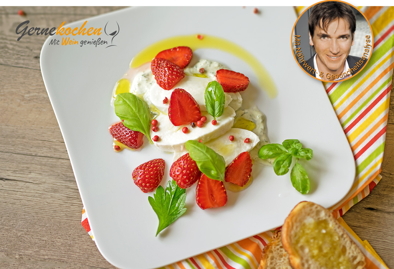 Gernekochen - Mit Wein genießen: Erdbeer-Mozzarella-Salat