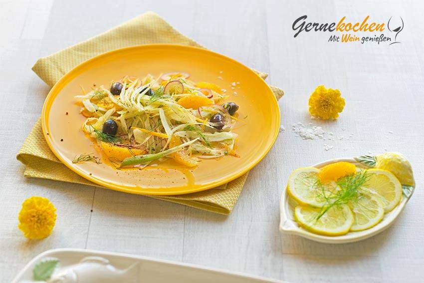 Gernekochen - Mit Wein genießen: Fenchelsalat mit Orangenfilets