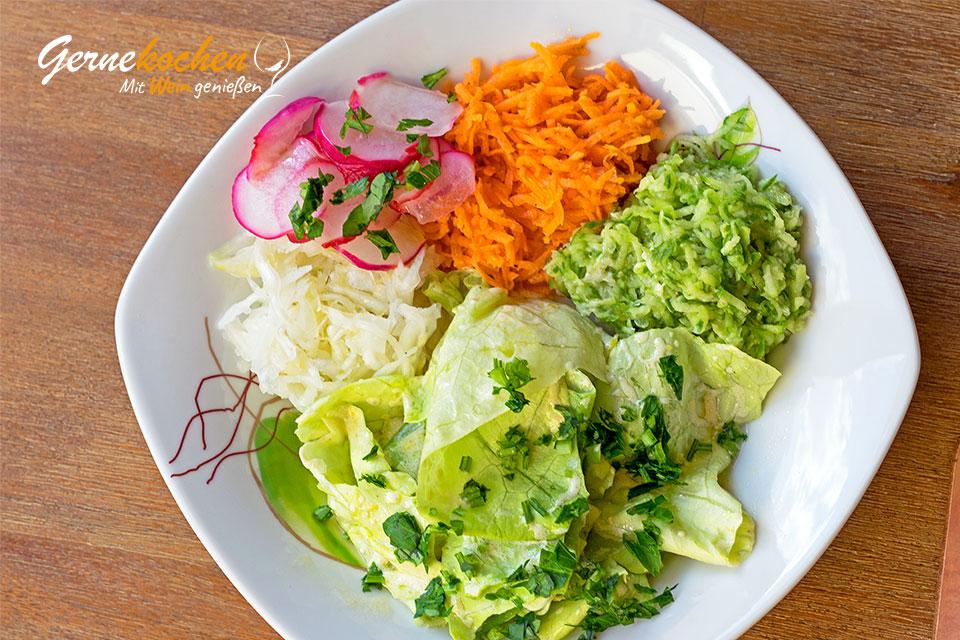 Gernekochen - Mit Wein genießen Gemischter Salat