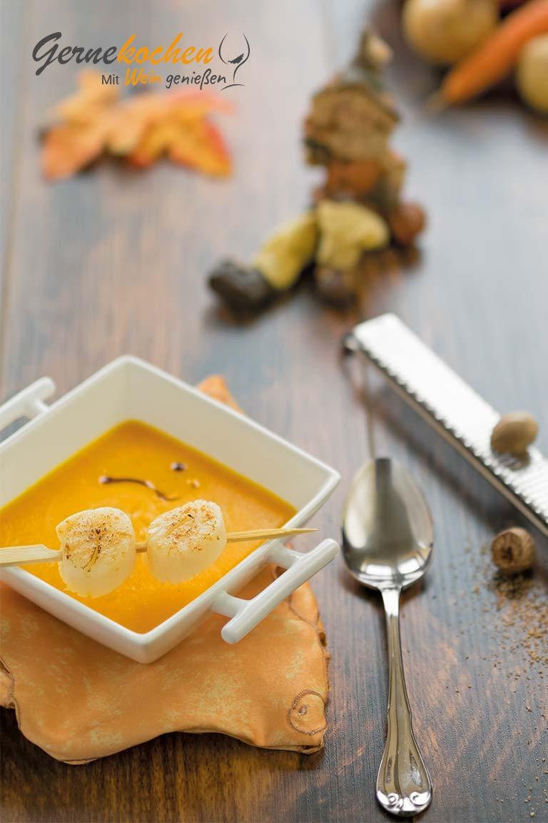 Kürbissuppe. Gernekochen - Mit Wein genießen