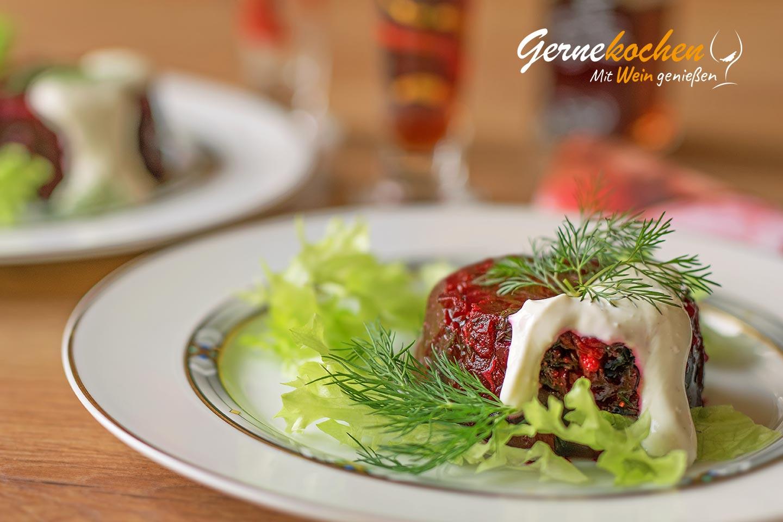 Rote-Beete-Sülze mit Schmand Rezept