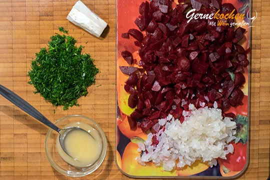 Rote-Beete-Sülze mit Schmand - Zubereitungsschritt 1.1