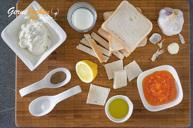 Tarama salatasi – Türkische Kaviarcreme – Zubereitungsschritt 1