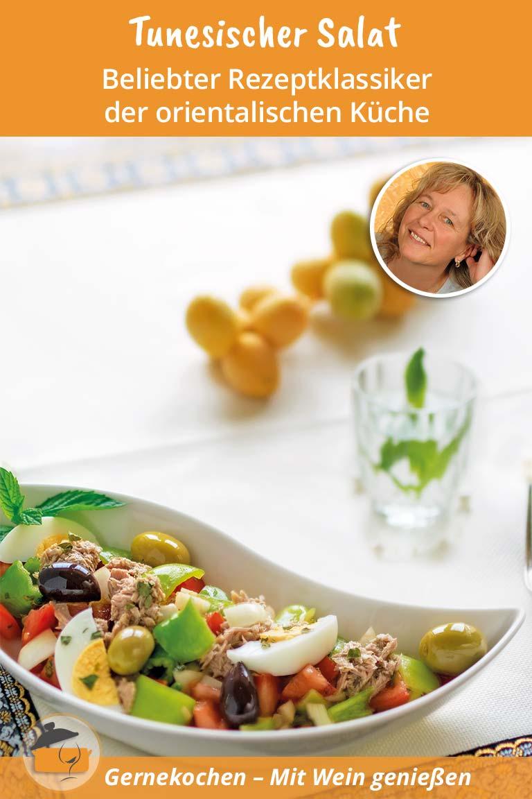 Tunesischer Salat mit Thunfisch und Ei. Gernekochen - Mit Wein genießen.