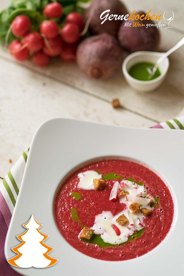 Schaumige Radieschen-Rote-Bete-Suppe